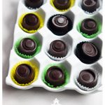 Chocolate bonbons with banana filling