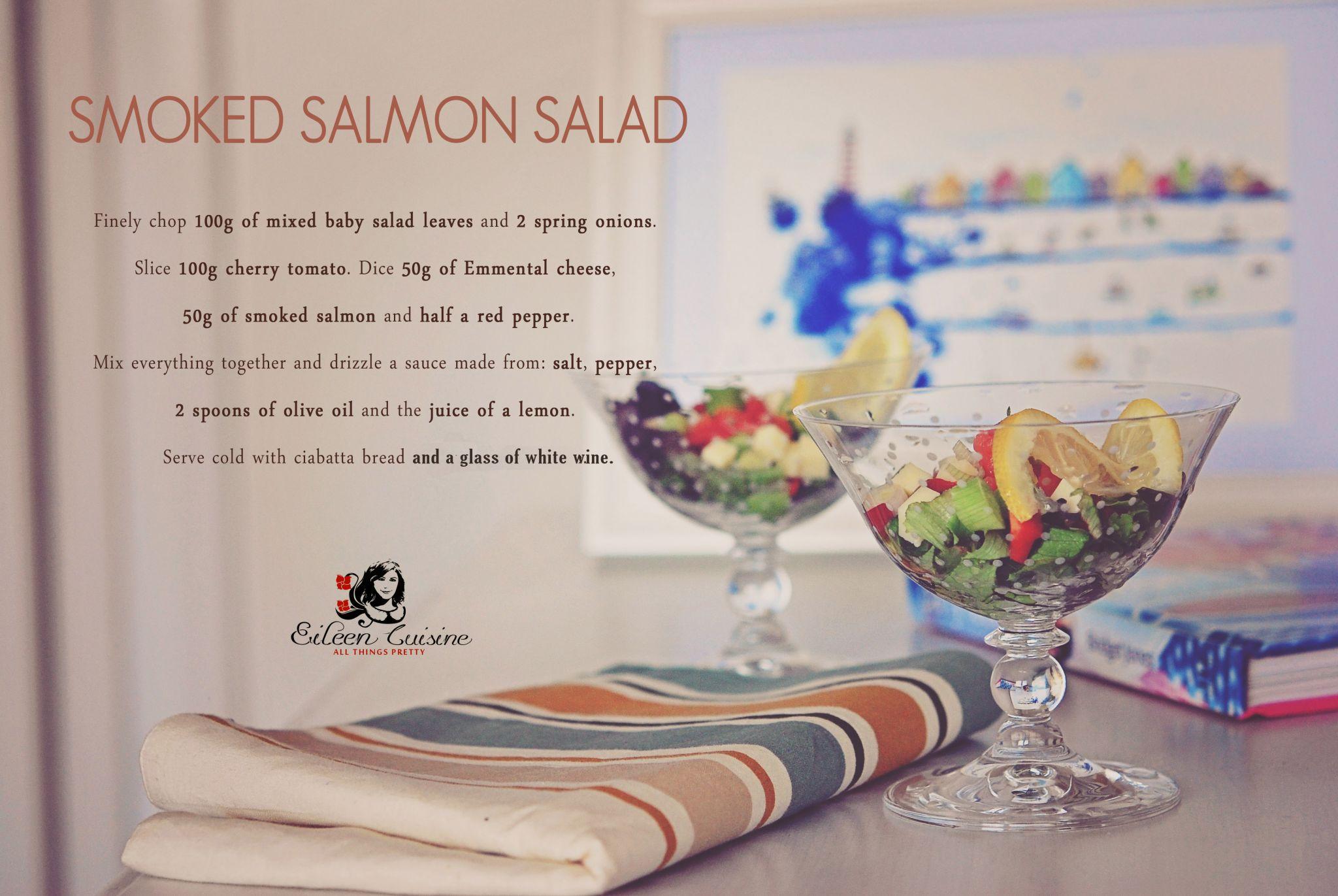 Smoked salmon salad Eileen Cuisine