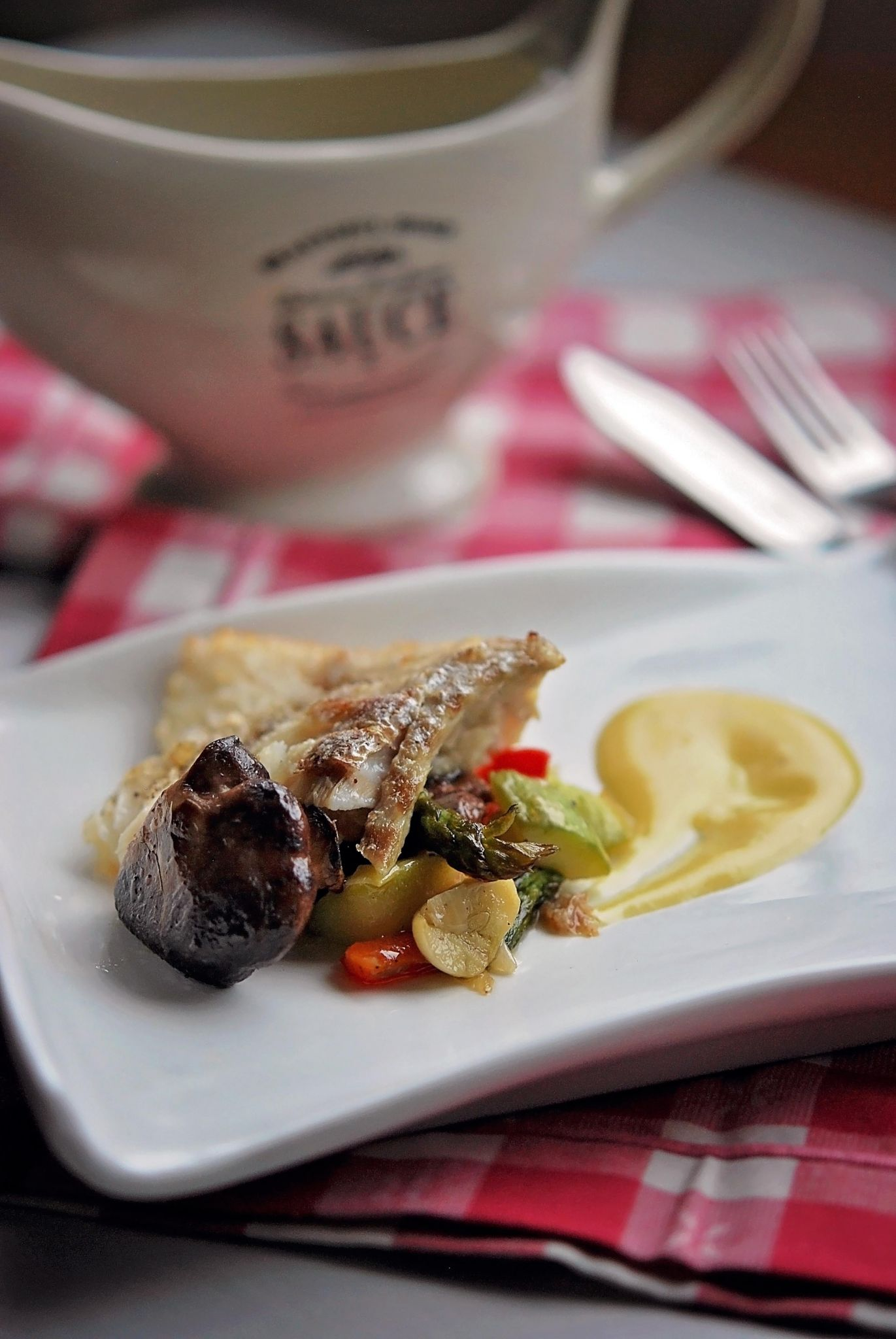 Roasted Cod With Lemon Beurre Blanc And Ratatouille