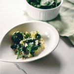 Cauli rice with greens and mozzarella