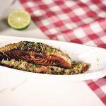 Mediterranean lime salmon with Cauli rice