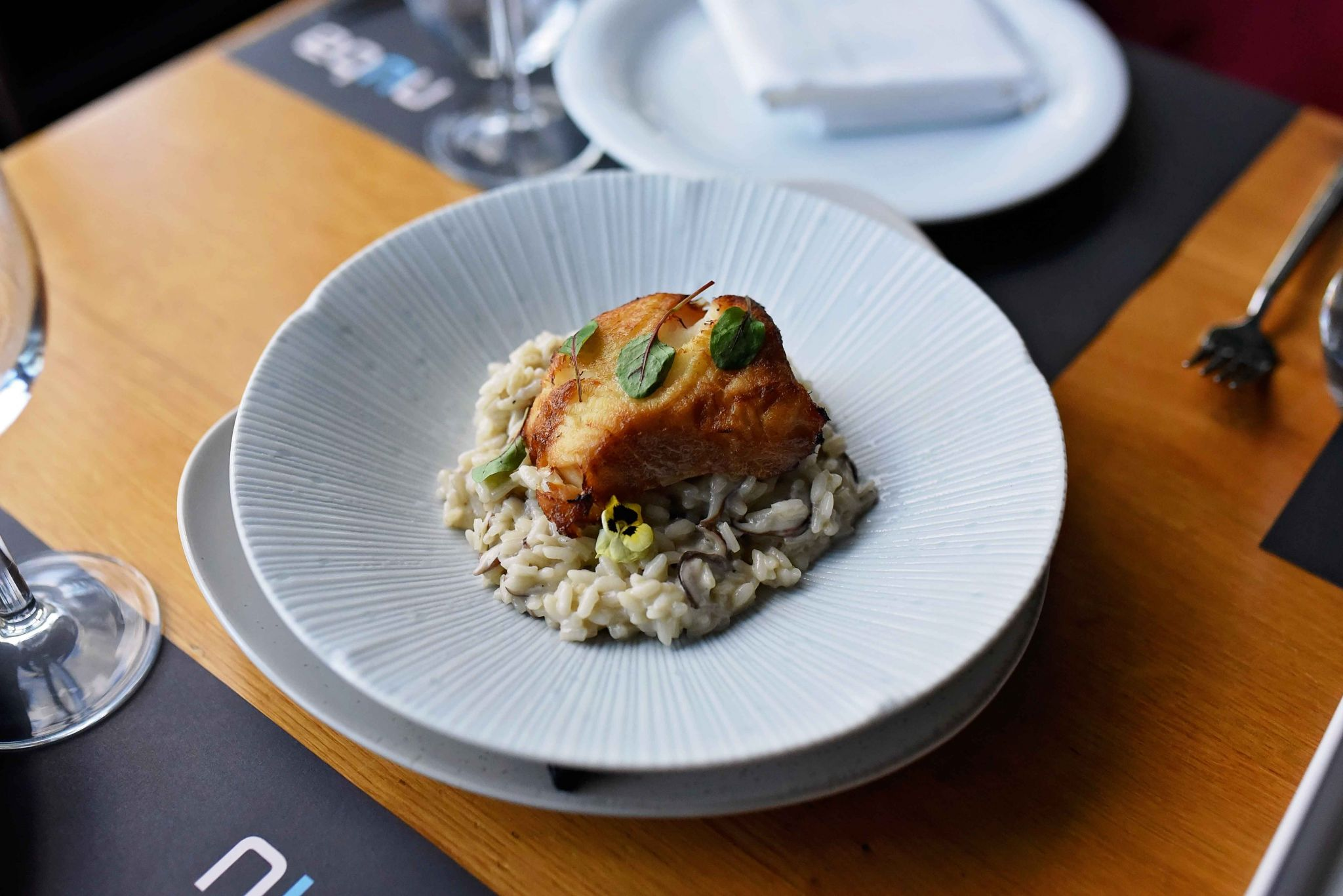 CHILEAN SEA BASS WITH RISOTTO
