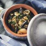 Portuguese seafood stew with rice