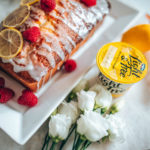 Lemon and raspberry loaf with Light & Free yogurt